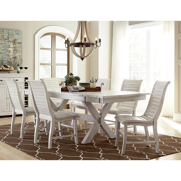 White Dining Table Willow Distressed White Rectangular Dining Table