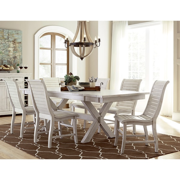 Willow Distressed White Rectangular Dining Table