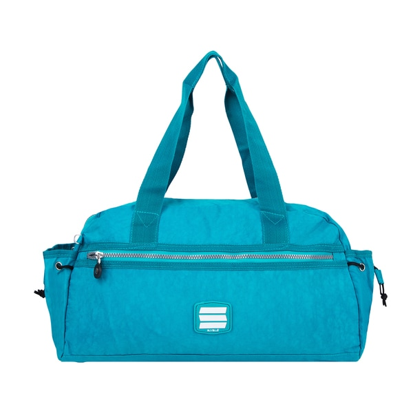 Suvelle Crinkled Nylon Water-resistant Weekend Bag