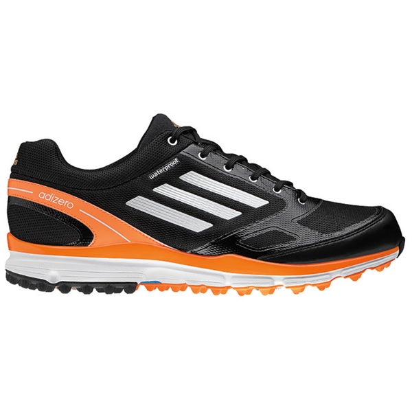 Adidas Men's Adizero Sport II Black/ White/ Zest Golf Shoes
