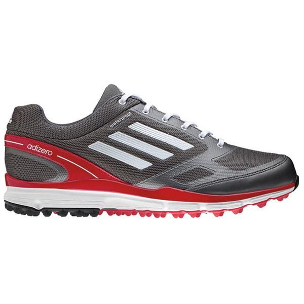adidas Golf - adiZERO Sport II (Dark Silver Metallic/Running White/Red) - Footwear