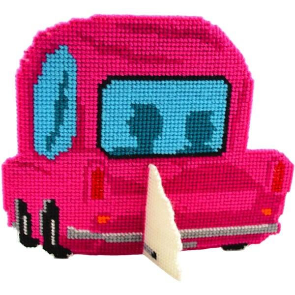 "Car-Toon Framous Plastic Canvas Kit-3.5""X2.8"" 10 Count"