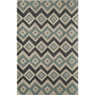 Amore Blue Geometric Rug (8' x 10')