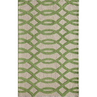 Amore Green Geometric Area Rug (8' x 10')