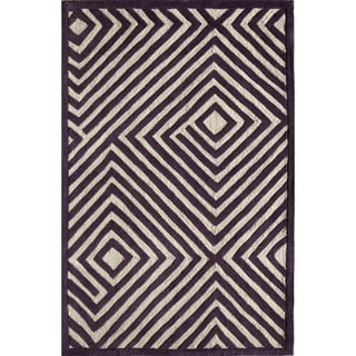 Amore Purple Geometric Area Rug (8' x 10')