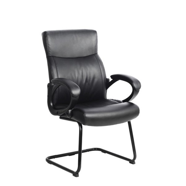CorLiving WHL-105-C Black Leatherette Office Chair