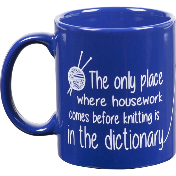 Knit Happy Blue Mug-Dictionary