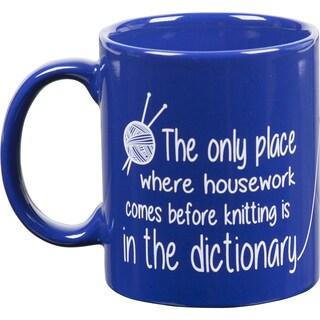 Knit Happy Blue Mug-Dictionary