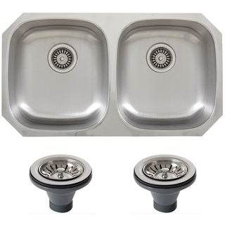 Phoenix 32.63-inch Inch Stainless Steel 18-gauge Undermount Double Bowl Kitchen Sink
