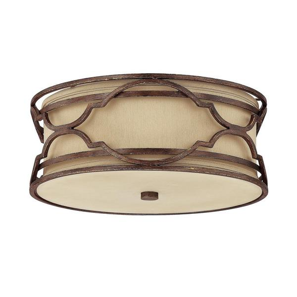 Capital Lighting Luciana Collection 3-light Bronze with Gold Dust Flush Light