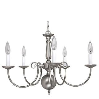 Capital Lighting Traditional Williamsburg style 5-light Matte Nickel Chandelier