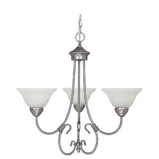 Capital Lighting Hometown Collection Matte 3-light Nickel Chandelier