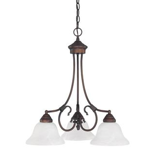 Capital Lighting Hometown Collection 3-light BronzeBurnished Chandelier