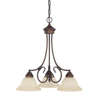 Capital Lighting Hometown Collection 3-light Burnished Bronze Chandelier