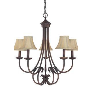 Capital Lighting Hometown Collection 5-light Burnished Bronze Chandelier