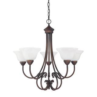 Capital Lighting Hometown Collection Burnished 5-light Bronze Chandelier