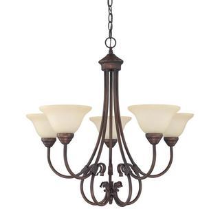 Capital Lighting Hometown Collection 5-light Burnished Bronze Chandelier
