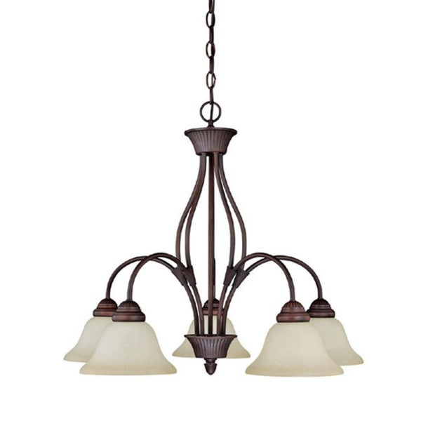 Capital Lighting Hammond Collection 5-light Mediterranean Bronze Chandelier