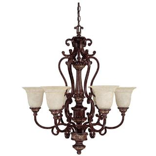 Capital Lighting Chesterfield Collection 6-light Chesterfield Brown Chandelier