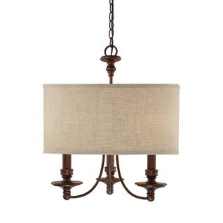 Capital Lighting Midtown Collection 3-light Burnished Bronze Chandelier