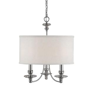 Capital Lighting Midtown Collection 3-light Polished Nickel Chandelier