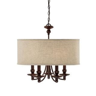 Capital Lighting Midtown Collection 5-light Burnished Bronze Chandelier