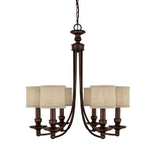 Capital Lighting Midtown Collection 6-light Burnished Bronze Chandelier