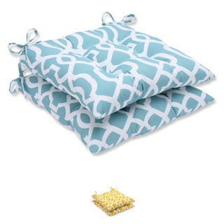 Pillow Perfect Outdoor New Geo Wrought Iron Seat Cushion (Set of 2)