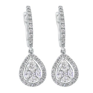 Beverly Hills Charm 14k White Gold 1 3/8ct TDW Diamond Earrings (H-I, SI1-SI2)