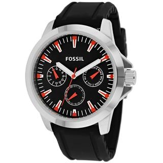 Fossil Men's BQ1293 Classic Round Black Strap Watch