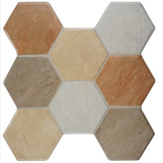 SomerTile 15.25x16-inch Terrene Mix Ceramic Floor and Wall Tile (Case of 12)