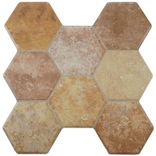 SomerTile 15.25x16-inch Terrene Beige Ceramic Floor and Wall Tile (Case of 12)