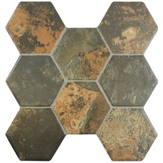 SomerTile 15.25x16-inch Terrene Magma Ceramic Floor and Wall Tile (Case of 12)