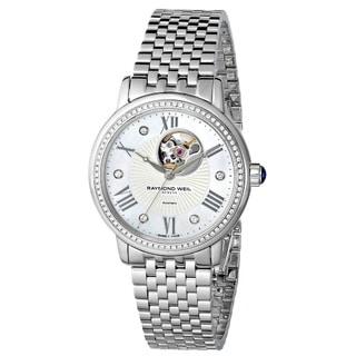 "Raymond Weil Women's 2627-STS-00965 ""Maestro"" Analog Display Swiss Automatic Silver Watch"