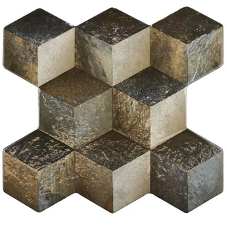 SomerTile 15.25x16-inch Qubic Ceniza 3D Ceramic Floor and Wall Tile (Case of 12)