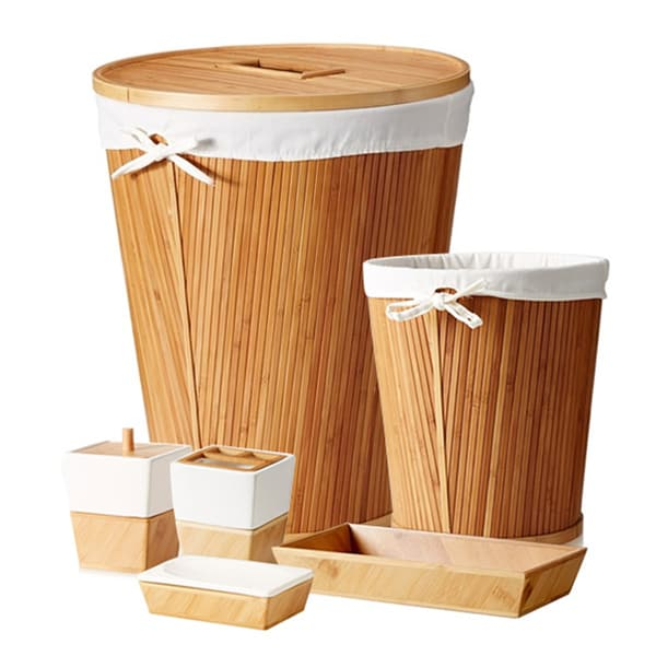 Bamboo Bath Accessory 6 Piece Set