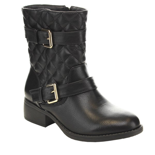 Lilianna ELITE-8 Women's Quilted Mid Calf Boots