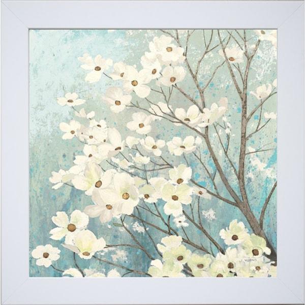 James Wiens 'Dogwood Blossoms I' Framed Art Print
