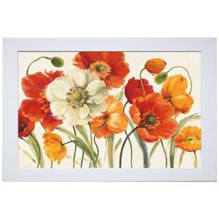 Lisa Audit 'Poppies Melody I' Framed Artwork