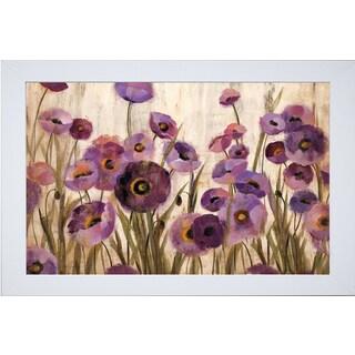 Silvia Vassileva 'Pink and Purple Flowers' Framed Art