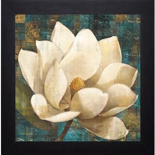 Albena Hristova 'Magnolia Blossom Turquoise' Framed Artwork