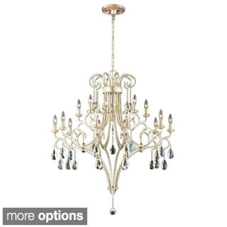 Caruso Collection 15 Light Silver Chandelier
