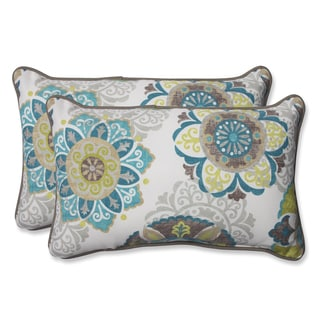Pillow Perfect Outdoor Blue Nivala Corded Rectangular