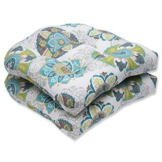 Pillow Perfect Outdoor Allodala Oasis Wicker Seat Cushion (Set of 2)