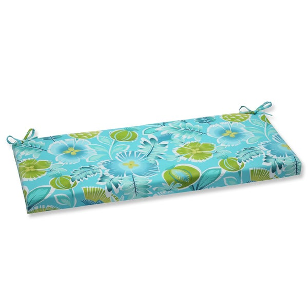 Pillow Perfect Outdoor Calypso Turquoise Bench Cushion