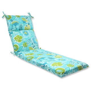 Pillow Perfect Outdoor Calypso Turquoise Chaise Lounge Cushion