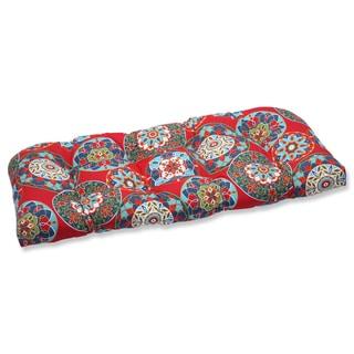 Pillow Perfect Outdoor Cera Garden Wicker Loveseat Cushion