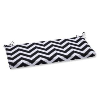 Pillow Perfect Outdoor Chevron Black/White Bench Cushion