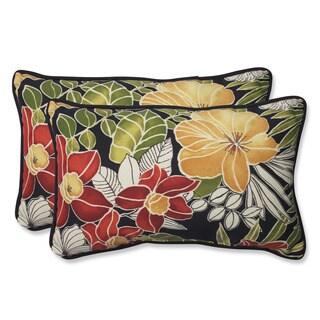 Pillow Perfect Outdoor Clemens Noir Rectangular Throw Pillow (Set of 2)