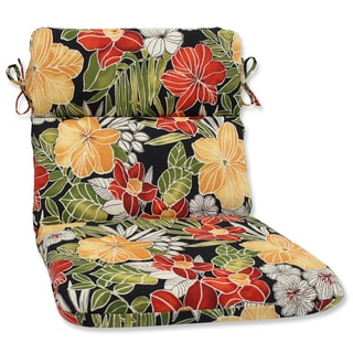 Pillow Perfect Outdoor Clemens Noir Rounded Corners Chair Cushion
